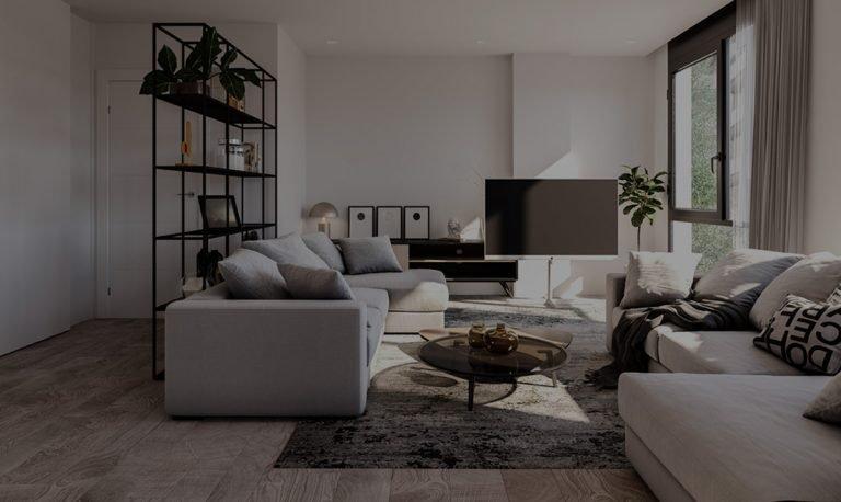Salón de una vivienda de Casa Berlín