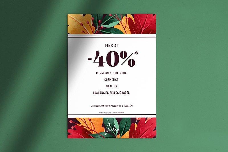 Cartel Promoción Otoño Perfumerías Júlia Catalán
