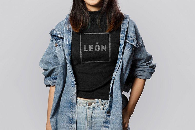 Camiseta Merchandising Marca León
