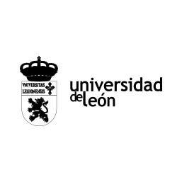 Logo tipo en negativo de la Universidad de León