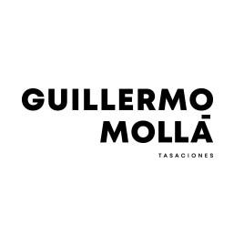 Logo en negativo de Guillermo Mollá