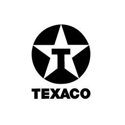 Logo en negativo de Texaco